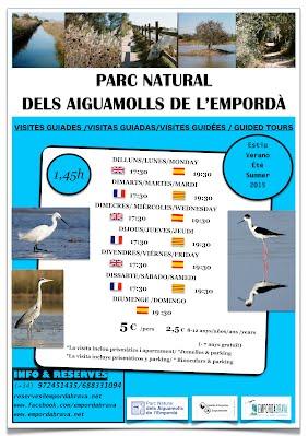 Parc Natural dels Aiguamolls de l'Empordà Visites guiades estiu 2015 Visitas Guiadas Verano 2015 Visites guidées été 2015 Guided tour summer 2015
