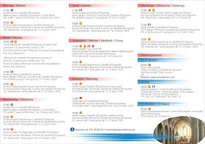 Castelló d'Empúries Visites guiades estiu 2015 Visitas guiadas verano 2015 Visites guidées été 2015 Guided Tour summer 2015